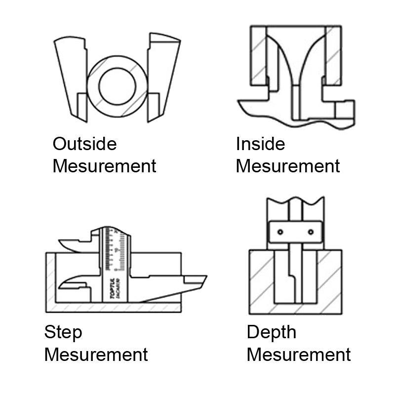 Brilliant Toptul Stainless Steel Vernier Caliper Tools From Us Wiring Cloud Intapioscosaoduqqnet